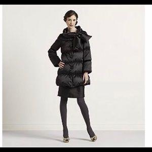 Kate spade black funnel neck down puffer coat